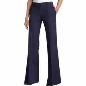Theory Linen Silk Emery Wide Leg Pants Sz 10